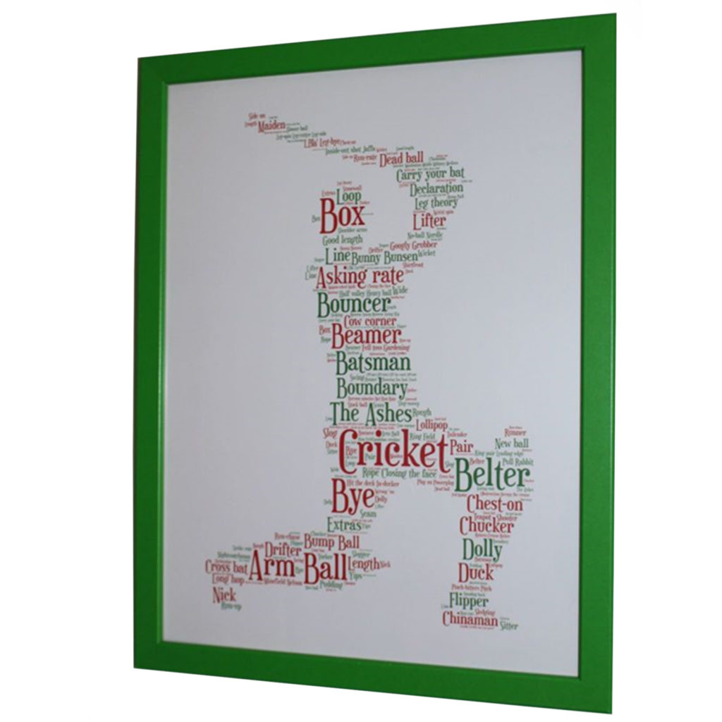 Framed Cricket Silhouette Picture
